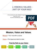 Mcwilliams Mission Vision Values the Heart of Your Ngo