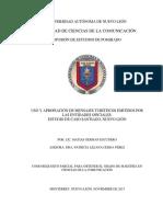 Tesis magistral -  Mág. Matias  Escudero (2015) UANL - CONSUMO TURÍSTICO - MENSAJE TURISTICO - TEORÍA CRÍTICA LATINOAMERICANA