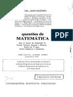 Manoel Jairo Bezerra - Questões de Matemática [Ensino de 1º Grau]