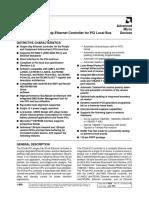 Am79C970 PCnet PCI Single-Chip Ethernet Controller Datasheet
