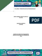 """EVIDENCIA 7 Ficha """"Valores y Principios Éticos Profesionales"""""""