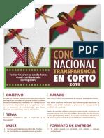 Convocatoria XIV Concurso Nacional Transparencia en Corto 2019