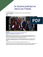 Presidente Vizcarra Participó en Misa y Tedeum Por Fiestas Patrias