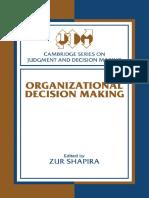 Epdf.tips Organizational Decision Making Cambridge Series On