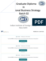 Post Graduate Diploma in International Business Strategy Batch 02
