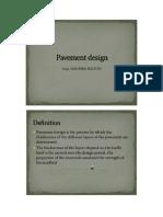 Handout of Pavement Design