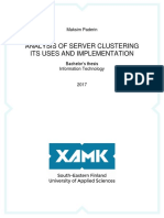 Analysis of Server Clustering