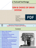 Classification Choice of Drive System