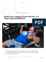 Build Your Lagging Chest With the 1_4 Rep Pump Out Method