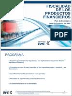 Fiscalidad Productos Financieros