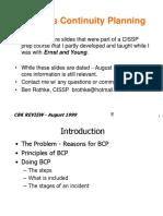 [Ebook]CISSP Business Continuity Planning - BCP(1).ppt