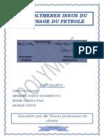 Les Polymères Issus Du Raffinage Du Pétrole PDF