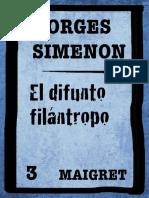 Simenon, Georges - [Comisario Maigret 02] El difunto filántropo (v1.1).epub