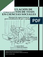 Formulación de proyectos de tesis en ciencias sociales