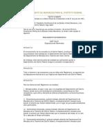 Reglamento de Mercados Para El Distrito Federal