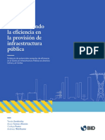 Aumentando La Eficiencia en La Provisión de Infraestructura Pública Evidencia de Potenciales Aumentos de Eficiencia en El Gasto en Infraestructura Pública en América Latina y El Caribe Es Es