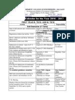 Academic Calendar FY 2016-170