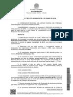 TRF2PTC201900236A - Institui o GEA de Agosto e Setembro 2019