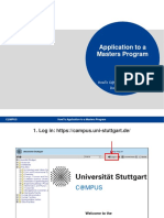 Howto Apply for Masters Stuttgart