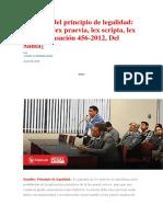 Casación 456-2012, Del Santa. Alcances del principio de legalidad.docx