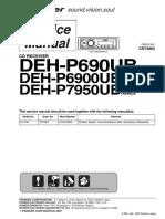 Pioneer Deh-p690ub p6900ub p7950ub Sm