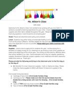info sheet- meet the teacher 2019