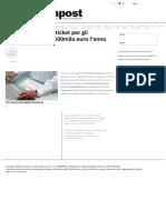 Finanziaria_ Niente Ticket Per Gli Inoccupati. Costo_ 500mila Euro l'Anno - Sardiniapost.it