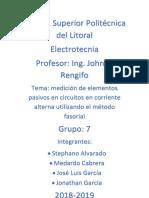 Resumen Practica 3 Electrotecnia