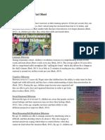 final middle childhood fact sheet