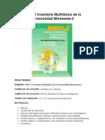 MMPI-2 Ficha Técnica y Descripción
