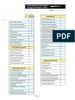 Sample Pilots Checklist