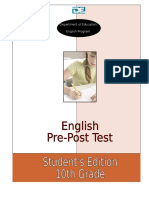 Pre - Post Test Student's Edition 10