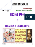 Medidas, erros e algarismos significativos