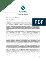 Comunicado de Prensa NTC 5801 - ICONTEC 2018