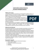 Estudios Internacionales 2019