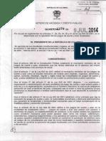 Decreto 1278 Del 09 de Julio de 2014 (Maquinas Tragamonedas)
