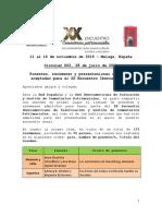 Circular 003 Ponentes, resúmenes y libros aceptados XX Encuentro Iberoamericano de Cementerios Patrimoniales