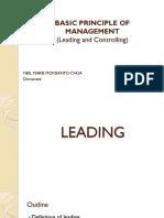 Basic Principle of Management