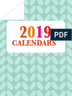 2019 Calendars by Home Printables So Cute!