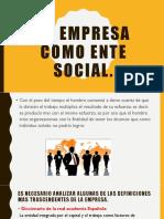 La Empresa Como Ente Social