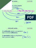 Core1 Arithmetic Series 111110