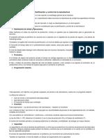 Planificación y Control de La Manufactura