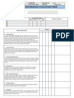 F-HRM-009 Performance Evaluation Form