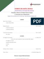 Programa II Concierto de Santa Cecilia-Homenaje a Rafael Cabezas