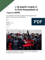 Cientos de Sin Papeles Ocupan El Panteón de París Demandando Su Regularización