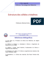 Aula 3 - ESTRUTURA DOS SÓLIDOS CRISTALINOS - 1° BIM 2019.pdf