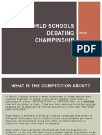 World Schools Debating Champinship
