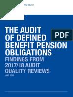 benifit pension obligation