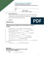 English II Homework Module 1 Verb Be Subject Pronouns Adjectives(1)
