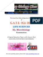 GATE XL 2018 Microbiology Solved Question Paper